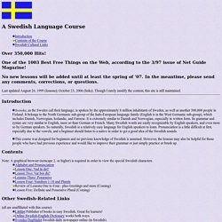 Swedish Language Course
