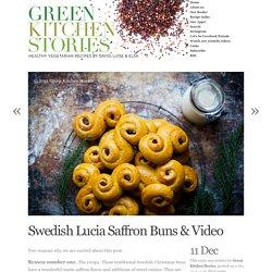 Swedish Lucia Saffron Buns & Video
