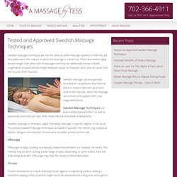 Best Swedish Massage Techniques Described by LoveTess