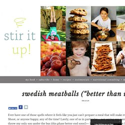 "Swedish meatballs (""better than IKEA's!"") » Stir It Up!"