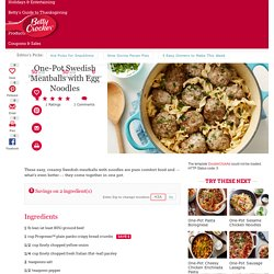 One-Pot Swedish Meatballs with Egg Noodles recipe from Betty Crocker