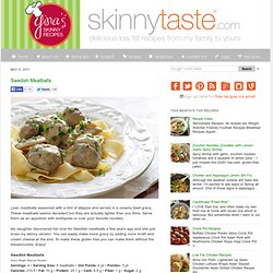 Swedish Meatballs | Ginas Skinny Recipes