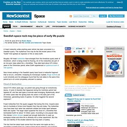 Swedish space rock may be piece of early life puzzle - space - 30 June 2014