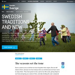 Swedish traditions – old and new