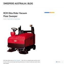 RCM Otto Rider Vacuum Floor Sweeper