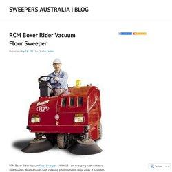 RCM Boxer Rider Vacuum Floor Sweeper
