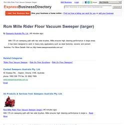 Rcm Mille Rider Floor Vacuum Sweeper