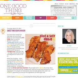 """One Good Thing"" by Jillee: Sweet and Sour Chicken"