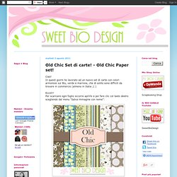 Old Chic Set di carte! - Old Chic Paper set!