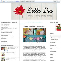 Bella Dia: Sweet Heart Crochet Pattern