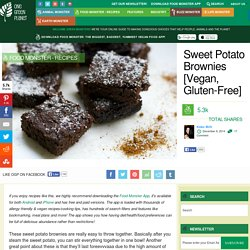 Sweet Potato Brownies [Vegan, Gluten-Free]