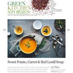 Sweet Potato, Carrot & Red Lentil Soup