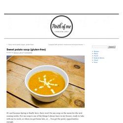 Sweet potato soup {gluten-free}
