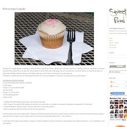 - sweet road -: How to make 1 cupcake