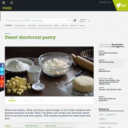Sweet shortcrust pastry recipe