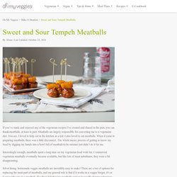 Sweet and Sour Tempeh Meatballs Recipe