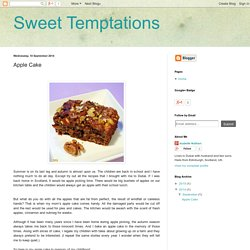Sweet Temptations: Apple Cake