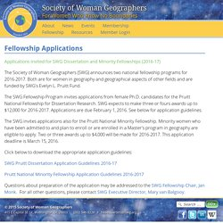 SWG: Fellowship Applications
