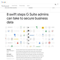 8 swift steps G Suite admins can take to secure business data