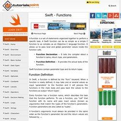 Swift Functions