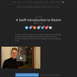 A Swift Introduction to Realm, with Tim Oliver