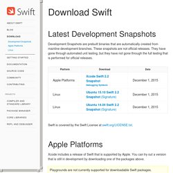 Swift.org - Download Swift