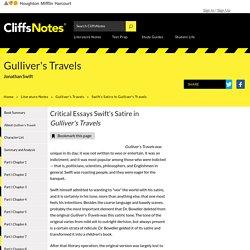 Swift's Satire in Gulliver's Travels