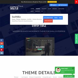SwiftBiz - Business WordPress Theme for Small Enterprise