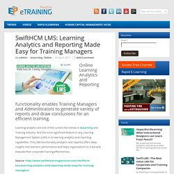 SwiftHCM LMS: Learning Analytics and Reporting Made Easy for Training Managers