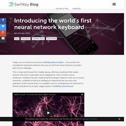 debuts alpha keyboard powered by Neural Networks