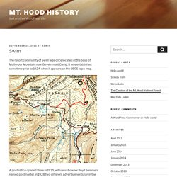 Swim – Mt. Hood History