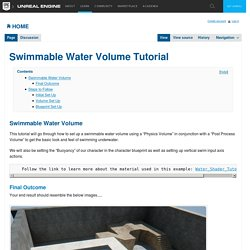 Swimmable Water Volume Tutorial