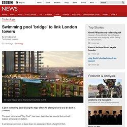 Swimming pool 'bridge' to link London towers - BBC News