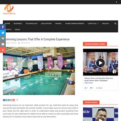 Swimming Lessons That Offer A Complete Experience - abcrnews