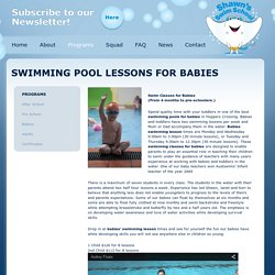 Swimming Pool Lessons: Swim Classes for Babies