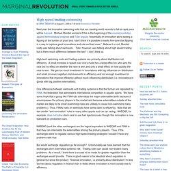 High speed trading swimming - Marginal REVOLUTION
