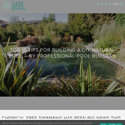 10 DIY Swimming Pool Tips - Swimming Pool Construction