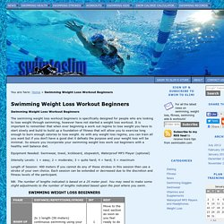 Swimming Weight Loss Workout Beginners