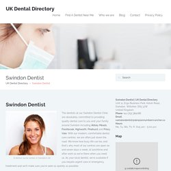 cosmetic dentistry swindon