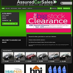 Used Car Sales in Swindon, Wiltshire - Assured Car Sales