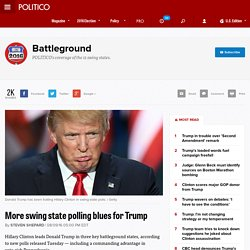 More swing state polling blues for Trump