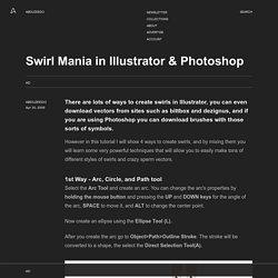 Swirl Mania in Illustrator & Photoshop