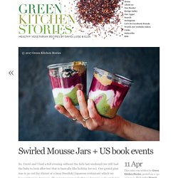 Swirled Mousse Jars + US book events