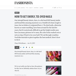 How To Get Swirly, Tie-Dyed Nails