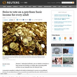 Swiss to vote on 2,500 franc basic income for every adult
