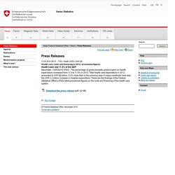 Swiss Statistics - Press Releases
