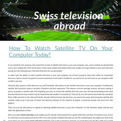 Swiss television abroad