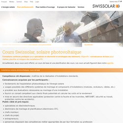 Cours Swissolar, solaire photovoltaïque