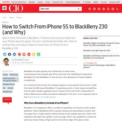 How to Switch From iPhone 5S to BlackBerry Z30 (and Why)
