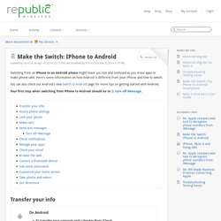 Make the Switch: IPhone to Android